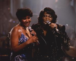Aretha Franklin Duet in Glitter Dress Candid Photo by Movie Star News