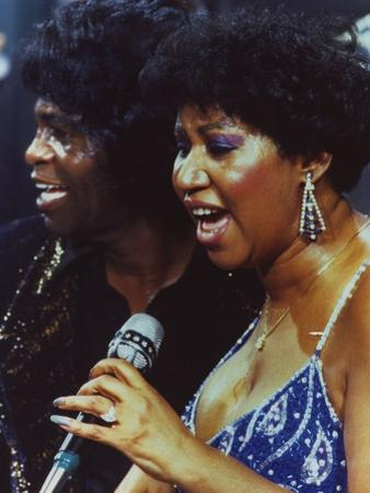 Aretha Franklin Duet Portrait by Movie Star News