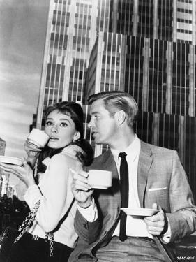 Audrey Hepburn and George Peppard Breakfast at Tiffany's Movie Scene - P... by Movie Star News