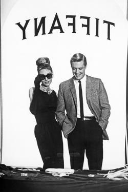 Audrey Hepburn and George Peppard in Tiffany's Window by Movie Star News