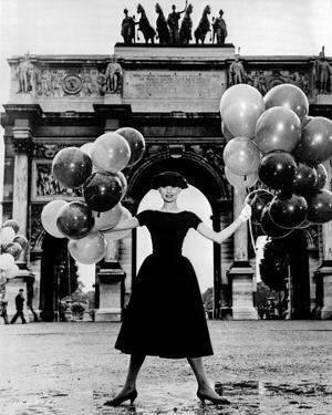 Audrey Hepburn Funny Face Black Dress by Movie Star News