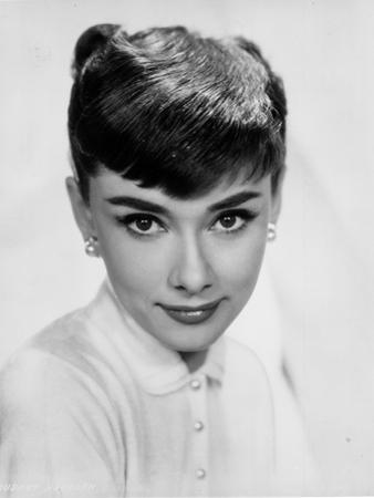 Audrey Hepburn Modeling Headshot Portrait by Movie Star News