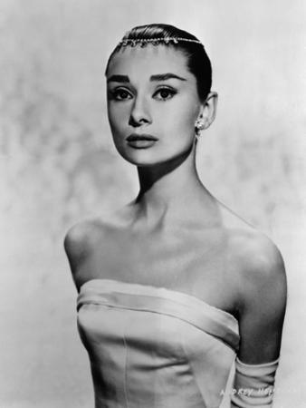 Audrey Hepburn Posed in White Dress by Movie Star News