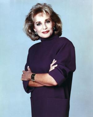 Barbara Walters Portrait in Violet Dress by Movie Star News