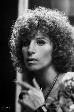 Barbra Streisand Looking Away Pose with Hand Gesture by Movie Star News