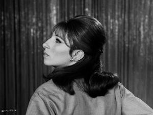 Barbra Streisand Portrait Facing Side View by Movie Star News