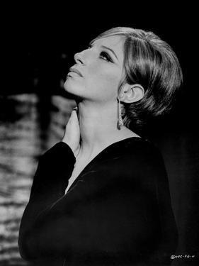 Barbra Streisand Portrait Looking Up by Movie Star News