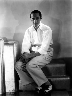 Basil Rathbone Pose in Black and White by Movie Star News