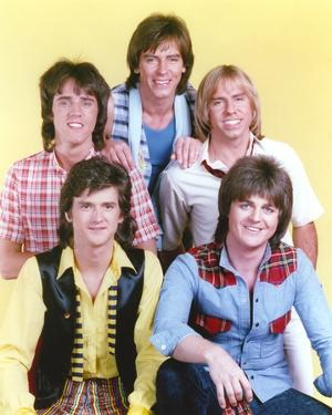 Bay City Rollers Group Picture in Yellow Background by Movie Star News