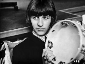 Beatles Ringo Starr Holding a Tambourine in Black Suit by Movie Star News