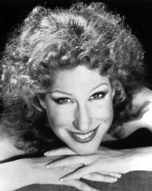 Bette Midler Portrait with Fingers Crossed and Chin Leaning on Hand by Movie Star News