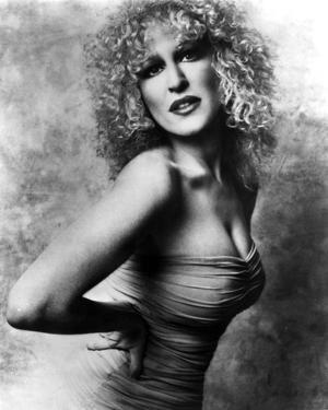 Bette Midler Portrait with Hands on the Waist Leaning Forward in Tube Dress by Movie Star News