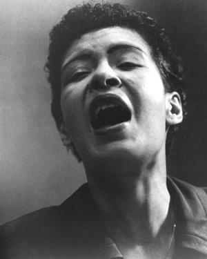 Billie Holiday Screaming Portrait by Movie Star News