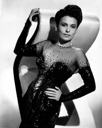 Black and White Portrait of Lena Horne in Black Gown by Movie Star News