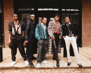 Bobby Brown in Casual Wear Group Portrait by Movie Star News