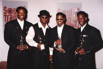 Boyz II Men in Black Suits Group Portrait by Movie Star News