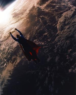 Brandon Routh Flying as Superman by Movie Star News
