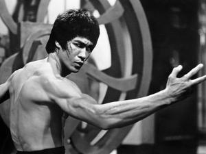 Bruce Lee Flexing by Movie Star News