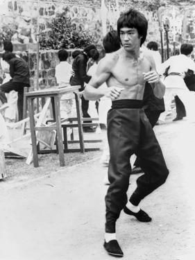 Bruce Lee in A Fighting Pose by Movie Star News