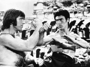 Bruce Lee in Fighting Scene by Movie Star News