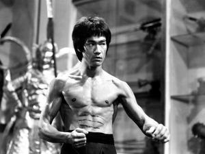 Bruce Lee in Topless with Blood on Stomach by Movie Star News
