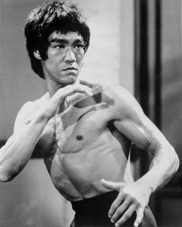 Bruce Lee with Blood on Face by Movie Star News