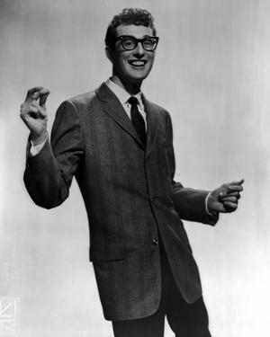 Buddy Holly Group Picture in Black Suit by Movie Star News