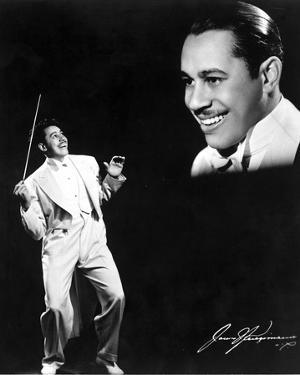 Cab Calloway in White With Black Background by Movie Star News