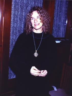 Carole King posed in Black Dress by Movie Star News