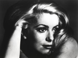 Catherine Deneuve Close Up with Hand on Head by Movie Star News