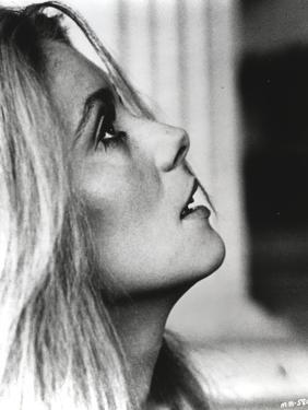 Catherine Deneuve Facing Sid View Close Up Portrait Black and White by Movie Star News