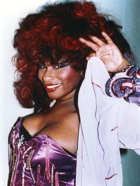 Chaka Khan Pose in Lingerie with Coat by Movie Star News