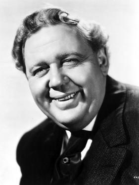 Charles Laughton in Black With White Background by Movie Star News