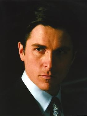 Christian Bale Portrait in Black Suit by Movie Star News
