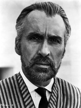 Christopher Lee in Stripe Suit by Movie Star News