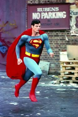 Christopher Reeve Running in Superman Costume by Movie Star News