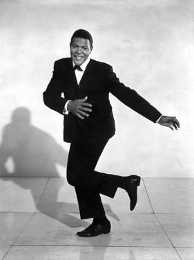 Chubby Checker Dancing in Black Suit with Black Shoes by Movie Star News
