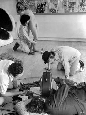 Clockwork Orange Behind the Scenes - Three Men Harassing Naked Woman by Movie Star News