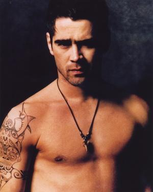 Colin Farrell Topless Portrait by Movie Star News