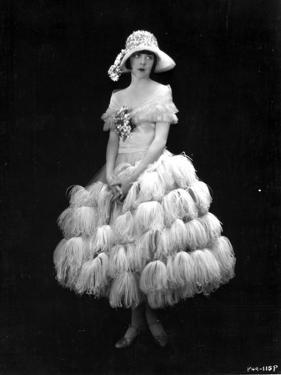 Colleen Moore on a Thick Furry Skirt Portrait by Movie Star News
