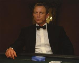Daniel Craig Seated in Black Tuxedo by Movie Star News