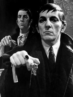Dark Shadows Cast Member on a Portrait in Black and White by Movie Star News