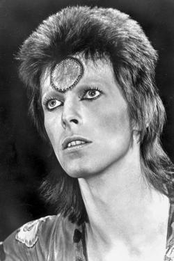 David Bowie Close Up Portrait With a Mark on His Forehead by Movie Star News