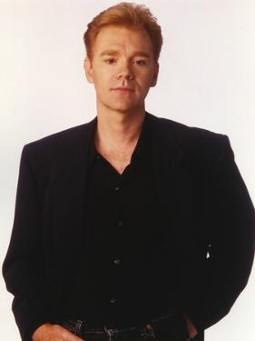 David Caruso Posed in Black Coat with White Background by Movie Star News