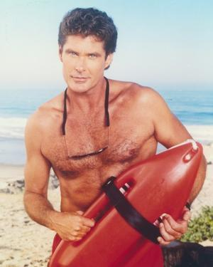 David Hasselhoff Posed in a Lifeguard Costume by Movie Star News