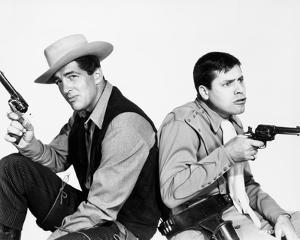 Dean Martin and Jerry Lewis Posed in Classic Portrait With Pistol by Movie Star News