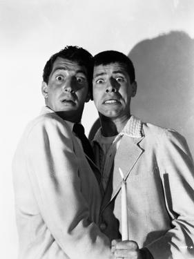 Dean Martin and Jerry Lewis Scene with Two Men in Shock by Movie Star News
