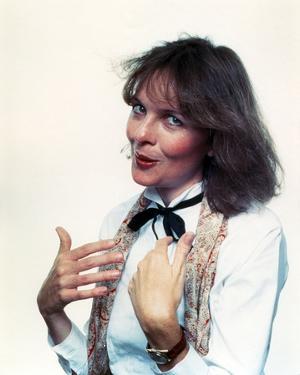 Diane Keaton Portrait in White Sleeves by Movie Star News