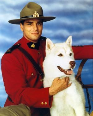 Due South in Ranger Uniform with Dog Portrait by Movie Star News