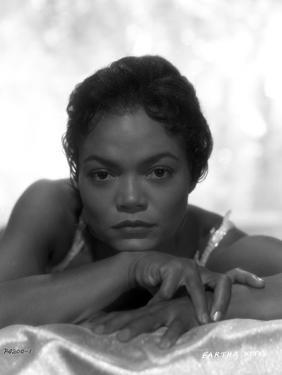 Eartha Kitt Portrait in Black and White by Movie Star News